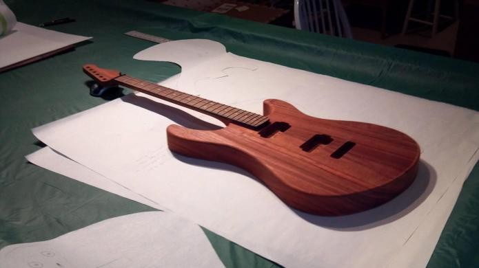 A test fit with the neck, almost at completion.